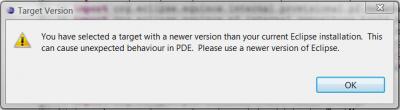 PDE warns for itself